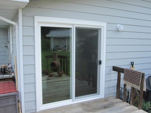 White Six Foot Sliding Door With Low E Glass And Argon Gas